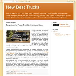 Comprehensive Pickup Truck Reviews Made Handy