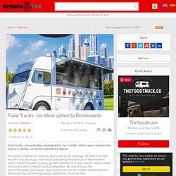 Food Trucks - an Ideal option to Restaurants Article