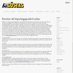 Konsten att köpa begagnade truckar - Göstas Truckuthyrning