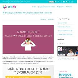 10 trucos para buscar en Google y encontrar con éxito