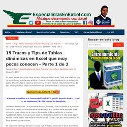 15 Trucos y Tips de Tablas dinámicas en Excel que muy pocos conocen