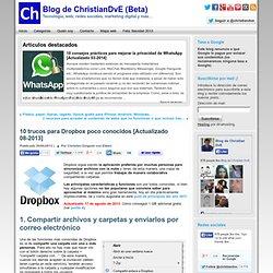 Conseguir 1 GB gratis de Dropbox con Mailbox - 10 trucos para Dropbox poco conocidos #Community…