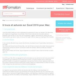 6 trucs et astuces sur Excel 2016 pour Mac