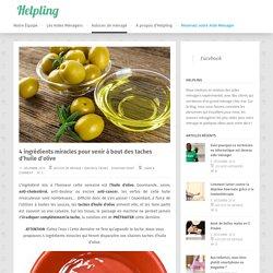 Trucs et Astuces : Fini les taches d'huile d'olive !