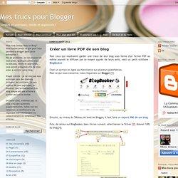Créer un livre PDF de son blog