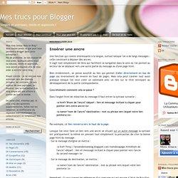Mes trucs pour Blogger