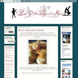 Petits cakes poires-amande
