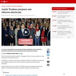 Justin Trudeau propose une réforme électorale