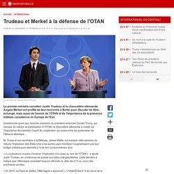 Trudeau et Merkel à la défense de l'OTAN