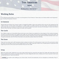True American (Drinking Game) Rules