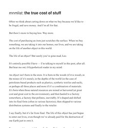 » the true cost of stuff