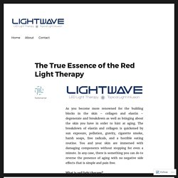 The True Essence of the Red Light Therapy – MY LIGHT WAVE
