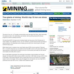 True giants of mining: World's top 10 iron ore mines