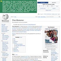 True Romance - Wikipedia