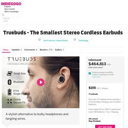 Truebuds - The Smallest Stereo Cordless Earbuds