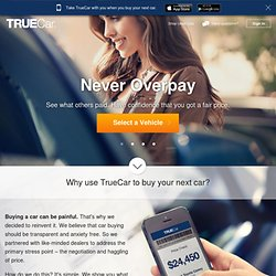 Never overpay. Hassle-free car buying from TrueCar Certified Dealers.