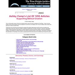 Archive - Ashby Camp's Articles Listing