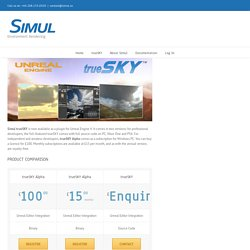 trueSKY for Unreal Engine 4 – Simul
