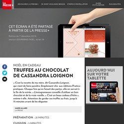 Truffes au chocolat de Cassandra Loignon