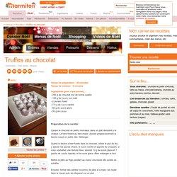 Truffes au chocolat : Recette de Truffes au chocolat