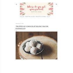 Truffes au chocolat blanc facon Raffaello