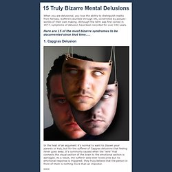 Bizarre Mental Delusions
