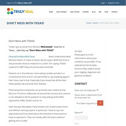 Don't Mess with TEXAS! - Truly Heal.com