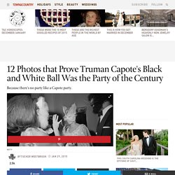 Truman Capote's Black And White Ball - The Black And White Ball At The Plaza Hotel