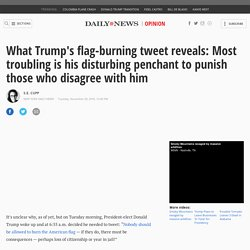 What Trump's flag-burning tweet reveals