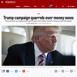 Trump campaign quarrels over money woes