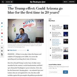 The Trump effect: Could Arizona go blue for the first time in 20 years?
