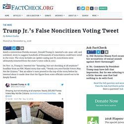 Trump Jr.'s False Noncitizen Voting Tweet