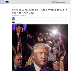 Trump's First 100 Days: Here Is What The President-Elect Wants To Do