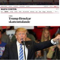Trump förnekar skatteuttalande