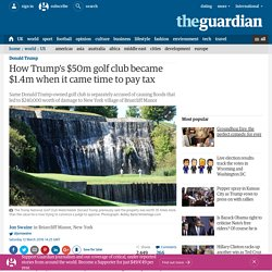 How Trump's $50m golf club became $1.4m when it came time to pay tax