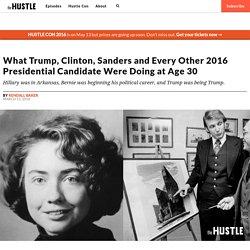 What Trump, Hillary Clinton, Bernie Were Doing in Their 30s