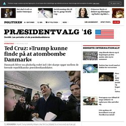 Ted Cruz: »Trump kunne finde på at atombombe Danmark«