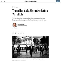 Trump Has Made Alternative Facts a Way of Life