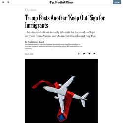 Trump Posts Another 'Keep Out' Sign for Immigrants