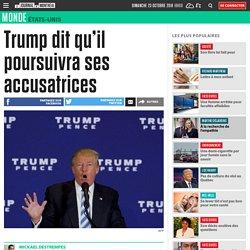 Trump dit qu'il poursuivra ses accusatrices