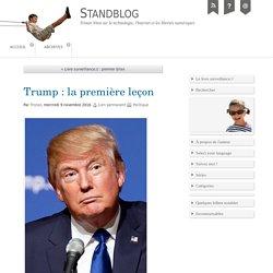 Trump : la première leçon
