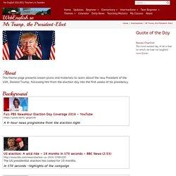 Mr Trump, the President-Elect ⋆ WebEnglish.se