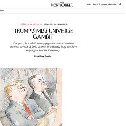 Trump's Miss Universe Gambit