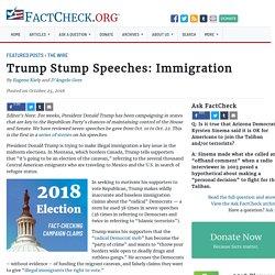 Trump Stump Speeches: Immigration