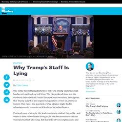 Why Trump's Staff Is Lying - Bloomberg View