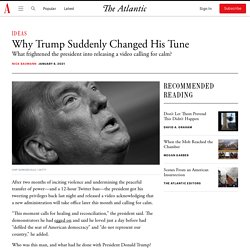 Why Trump Suddenly Changed His Tune