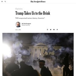 the donald takes US to the brink