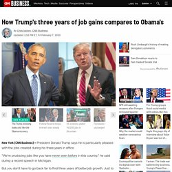 How Trump's three years of job gains compares with Obama's