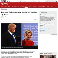 Trump's Twitter debate lead was 'swelled by bots'