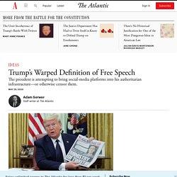 Trump's Warped Definition of Free Speech